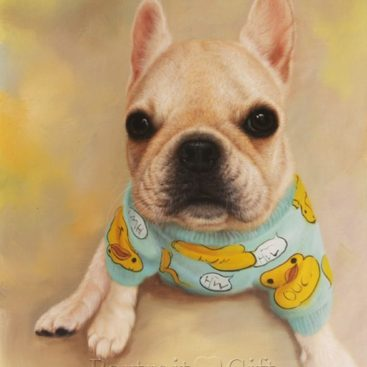 Little Dog Oil Portrait