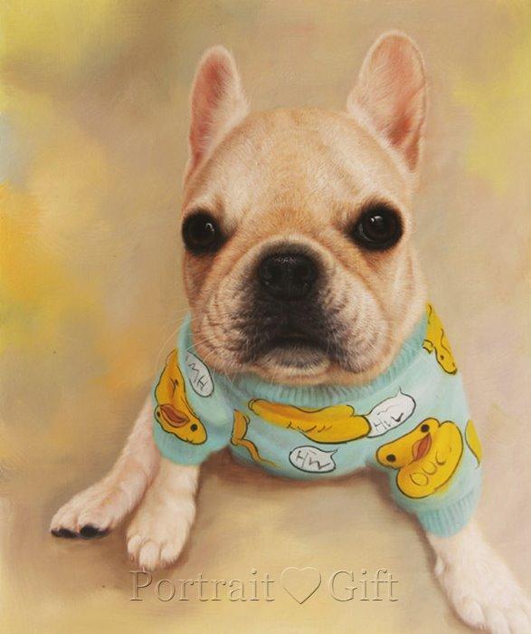 Little Dog Oil Portrait
