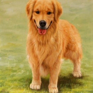 Dog Realistic Oil Portrait