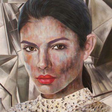 Lady Portrait Interpreted by Pop Art