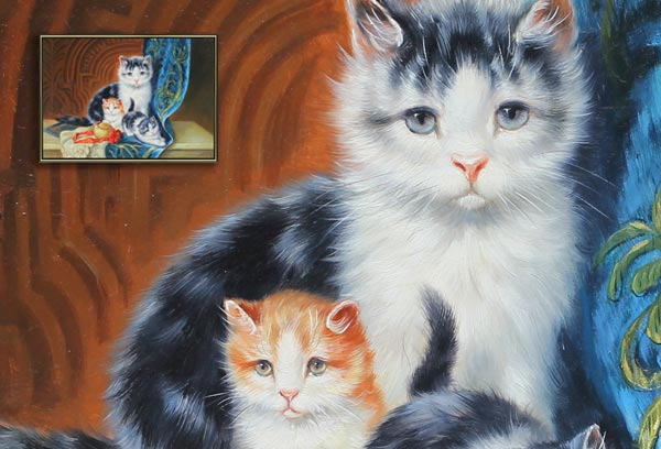 Cats Oil Painting