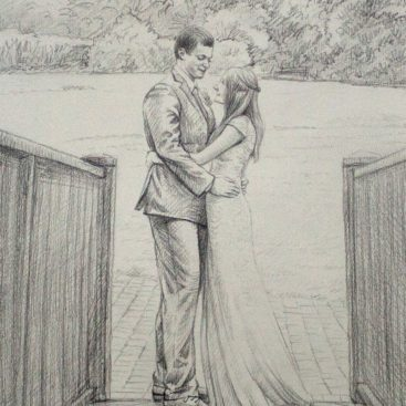 Couple Pencil Sketch