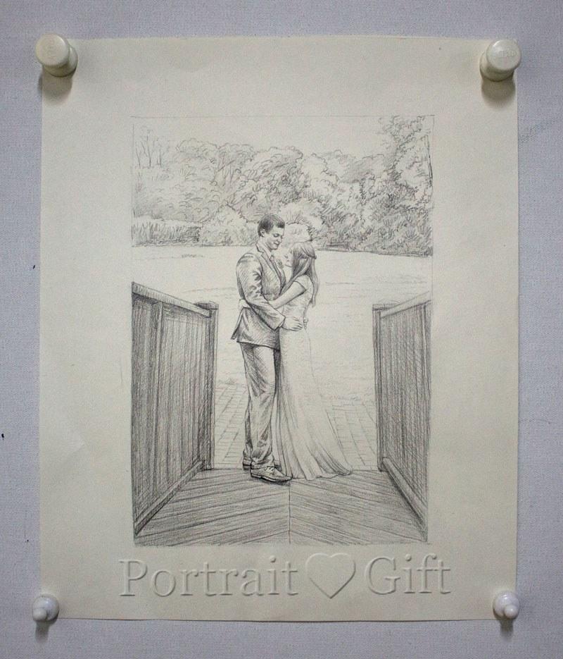 Couple Pencil Sketch 2