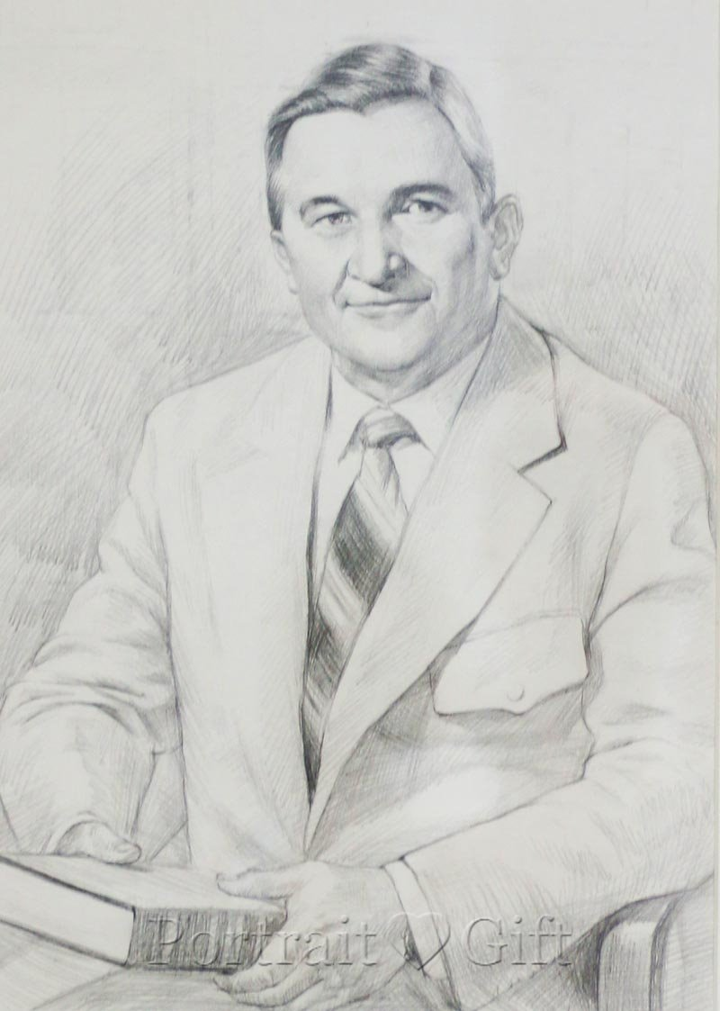 Male Pencil Sketch Portrait
