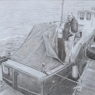 Boat Pencil Sketch