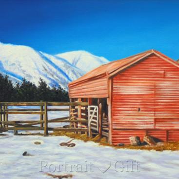 Cabin near the Snow Mountain