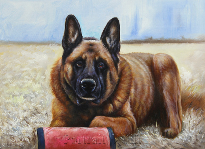 Strong Dog Portrait Painting