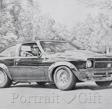Car Photo to Pencil Sketch
