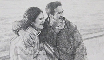 Couple Photo to Pencil Sketch
