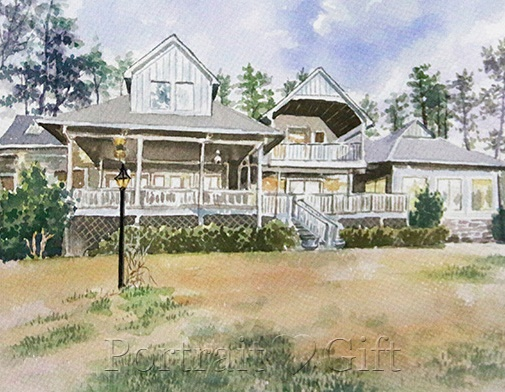 House Watercolor Painting from Photo