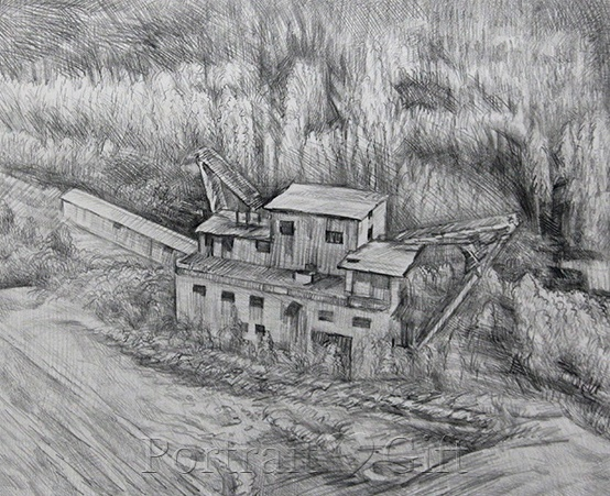 Old House Pencil Sketch