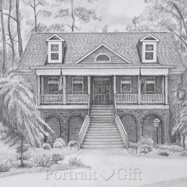 Sweet Home Pencil Sketch