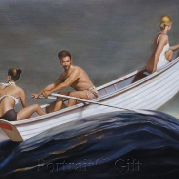 Three Persons Boating