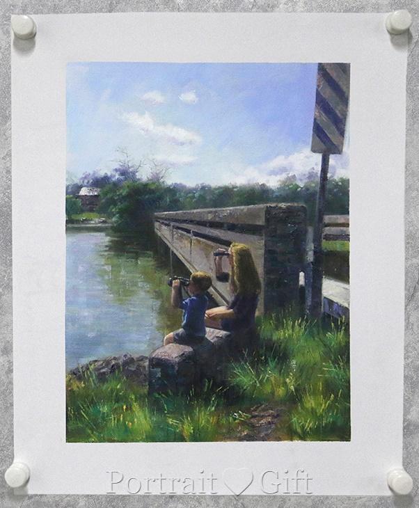 Two Kids near River 2