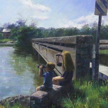 Two Kids near River