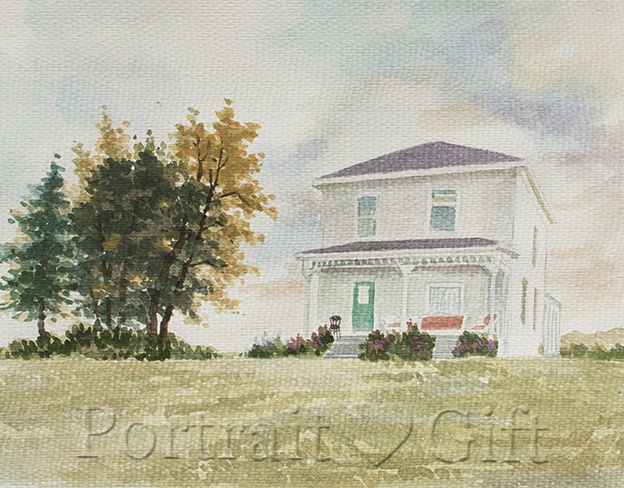 House Watercolor Gift