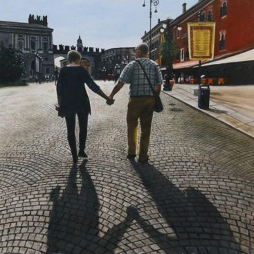 Lovely Couple Taking a Walk