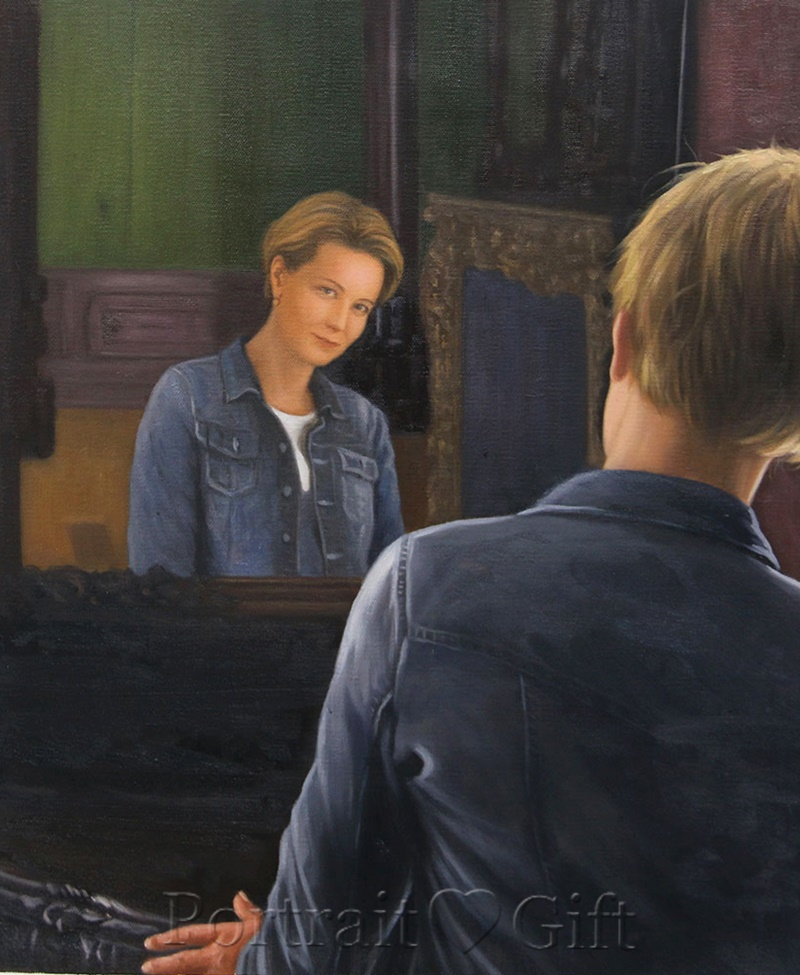 The Lady Looking into The Mirror