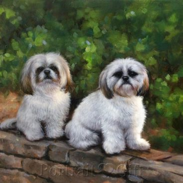 Cute Dogs on the Wall