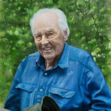 Grandpa Sitting in the Garden