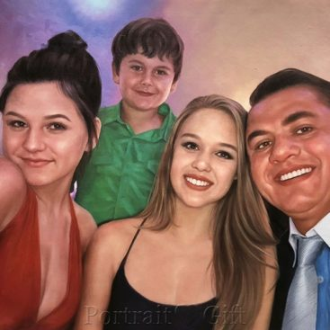 Family Portrait from Photo