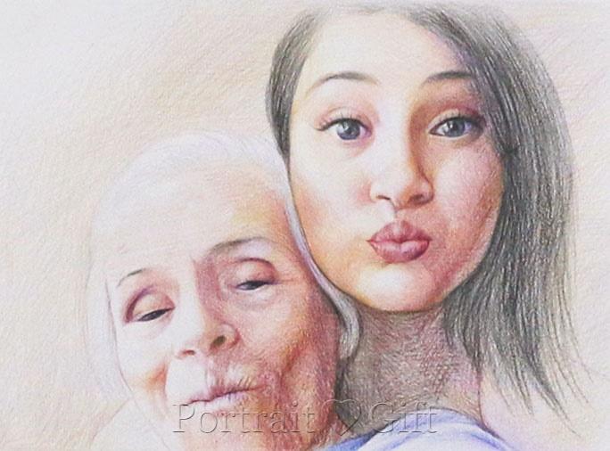 Girl with Her Grandma